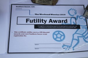 2010 Weekend Warrior Futility Award